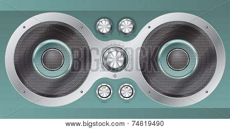 Speaker Set And Main Controls