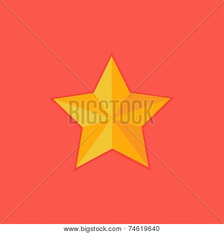 Christmas Yellow Star Flat Icon