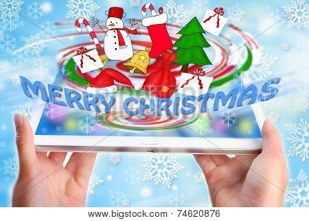 Merry Christmas Display On Tablet Pc