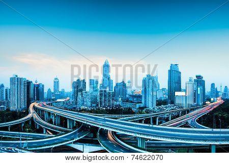 City Highway Overpass Panoramic