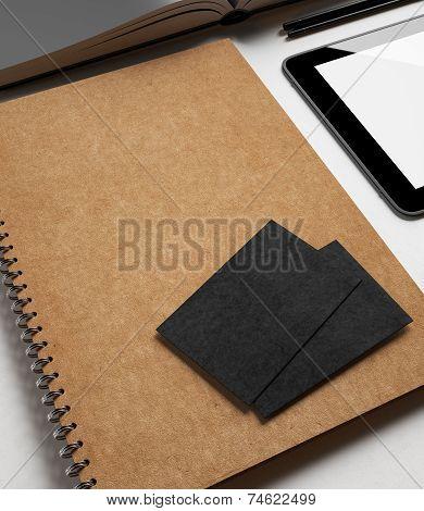 Identity Set With Textured Cardboard