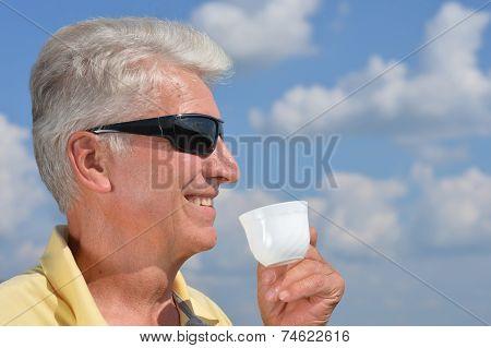 Caucasian aged man