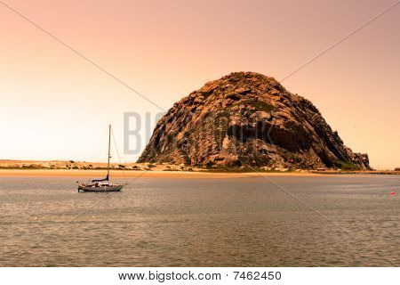 Morro Rock and Morro Bay, Big Sur, California, USA