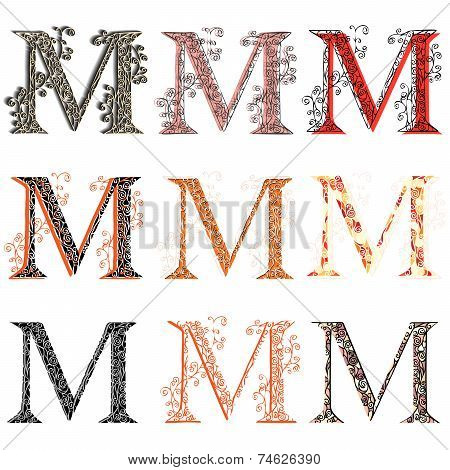 Various Combination Fishnet Letter M.