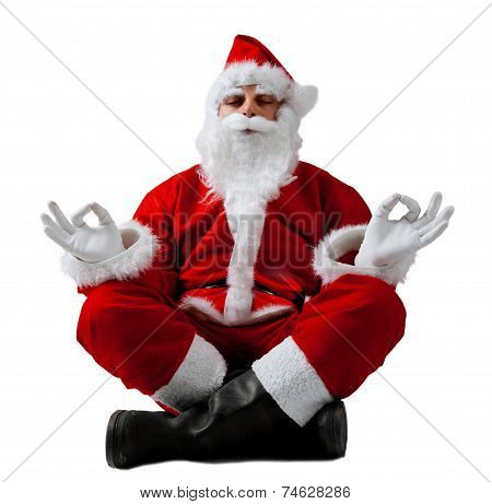 Santa Claus In Meditation