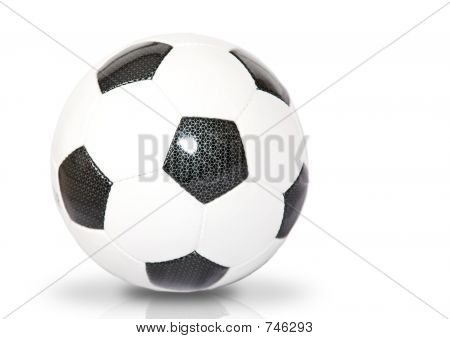 Soccer Ball Over White