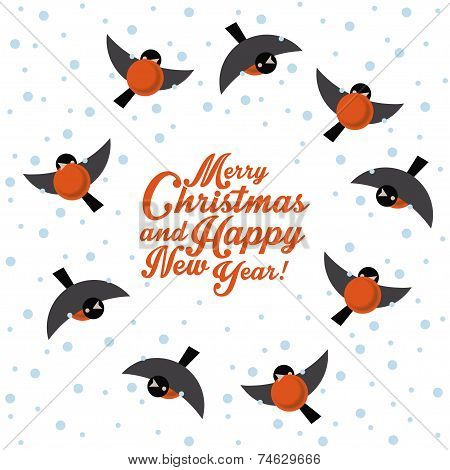 Christmas round dance bullfinches