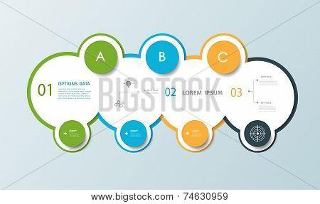 Minimal Infographic Circle Label Design
