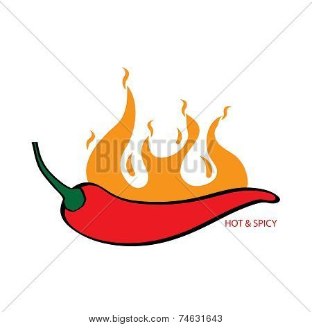 Hot and spicy graphic element