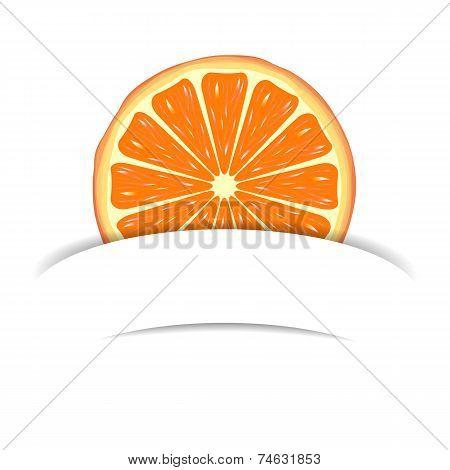 Orange with paper banner