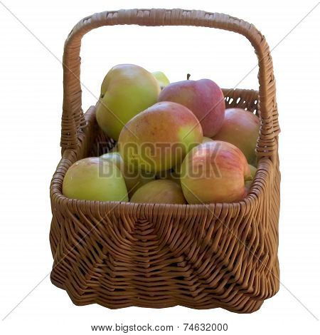 Basket With Fresh Apples.