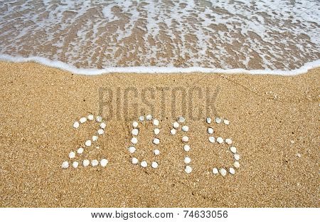 New Year On The Sea Beach