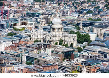 St Paul's Cathedral Aerial View From The Shard
