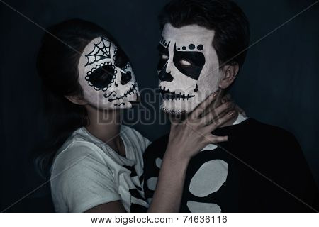 Halloween Couple Of Skeletons