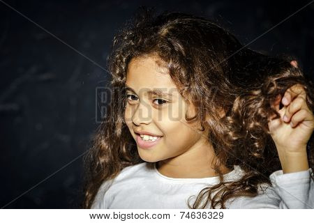 Cute Little African-american Girl Portrait