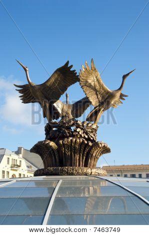 Stork Statue