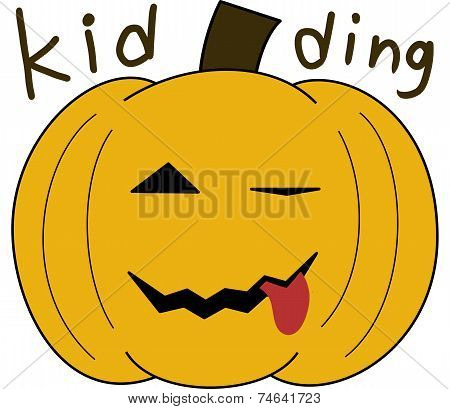 pumpkin face cartoon emotion expression joke