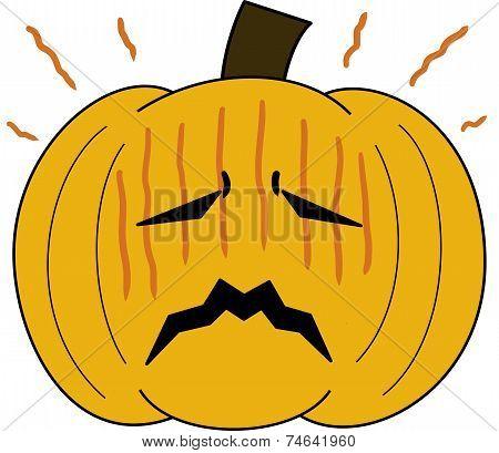 pumpkin face cartoon emotion expression stress