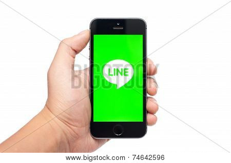 IPhone 5S with Line app
