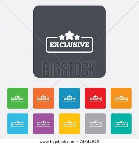 Exclusive sign icon. Special offer symbol.