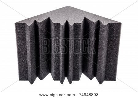Microfiber Foam Insulation For Noise In The Corners Of The Music Studio