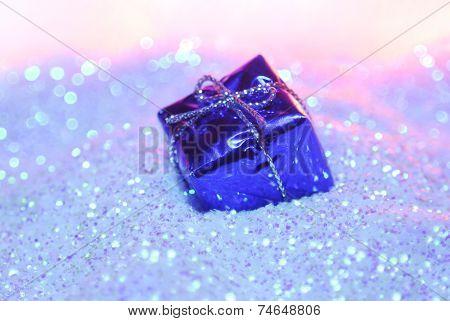 gift box on glitter