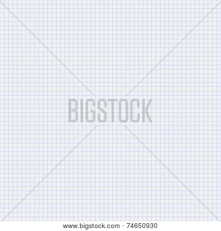 Vector seamless pattern paper exercise book in a cell