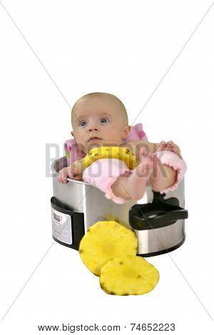 Baby Girl In Saucepan