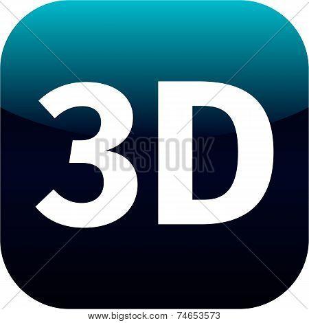3D Blue Icon