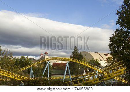 Roller Coaster Rails at Park
