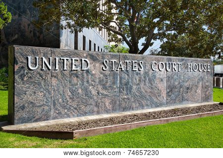 United States Court House Sign