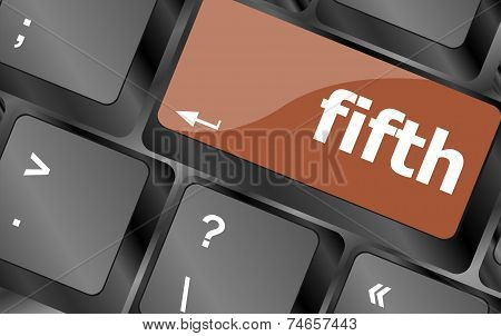 Fifth Button On Computer Pc Keyboard Key