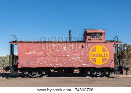 Map Of New Mexico And Arizona On Santa Fe Train Caboose