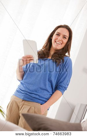 Successful Woman With Her Tablet
