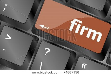 Firm Word On Keyboard Key, Notebook Computer Button
