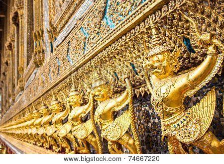 Garuda Statue Golden