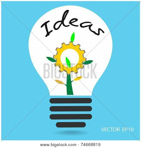 Creative light bulb and industrial ideas concepts