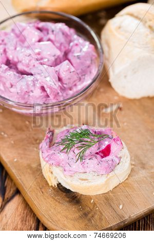 Herring Salad On A Baguette