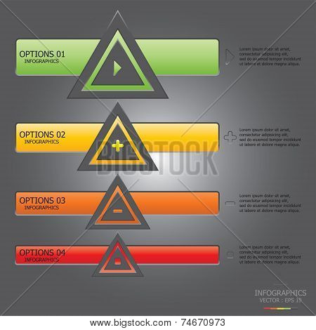 Modern Weaving Triangle Business Infographic Design Template