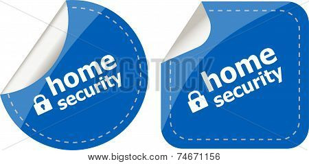 Secure Lock Sign Label Isolated On White, Home Security