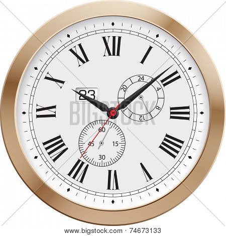 Old clock.Vector illustration.