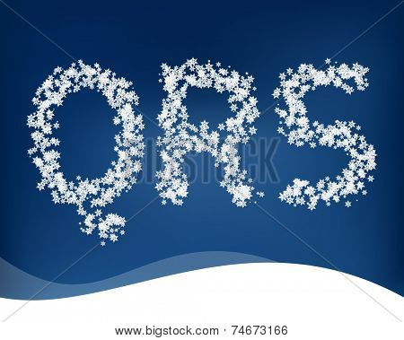 Snow letters for winter design. Vector.
