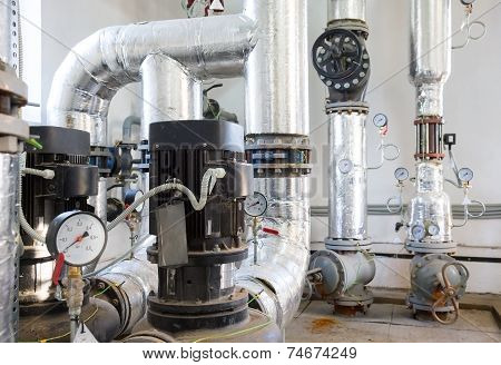 Place In A Large Industrial Boiler Room