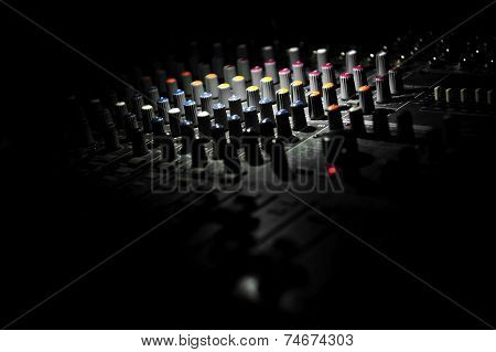 Audio Sound Mixer Buttons Detail