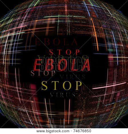 Ebola Virus Epidemic Concept digitally Generated Image
