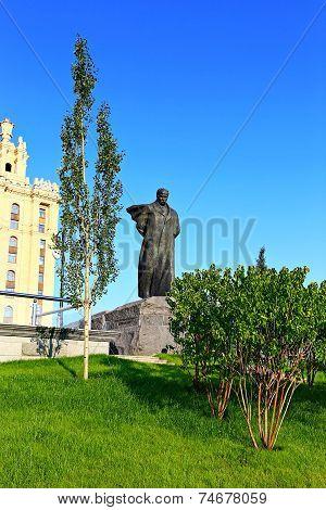 Monument To Ukrainian Poet Taras Shevchenko In Moscow