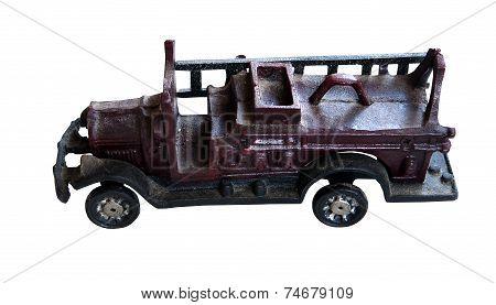 Antique cast iron toy Fire truck