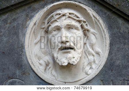 Bas-relief Of Jesus Face
