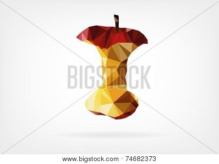 Low Poly Apple Core