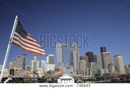 Seattle and Flag
